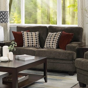 Casual Loveseat with Wide Track Arms