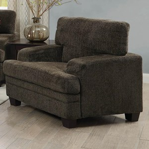 Casual Chair with Wide Track Arms