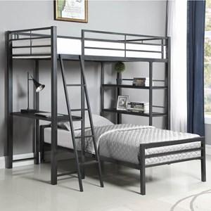 Metal Twin Workstation Loft Bed