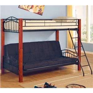Coaster Haskell Twin Over Futon Bunk Bed