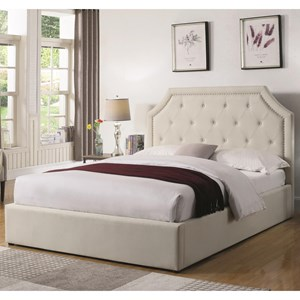 Easteren King Upholstered Bed with Hydraulic Lift Storage