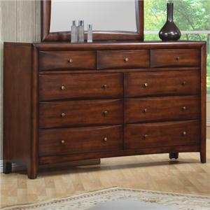 Contemporary 9 Drawer Dresser