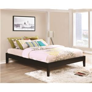Full Platform Bed in Cappuccino Finish