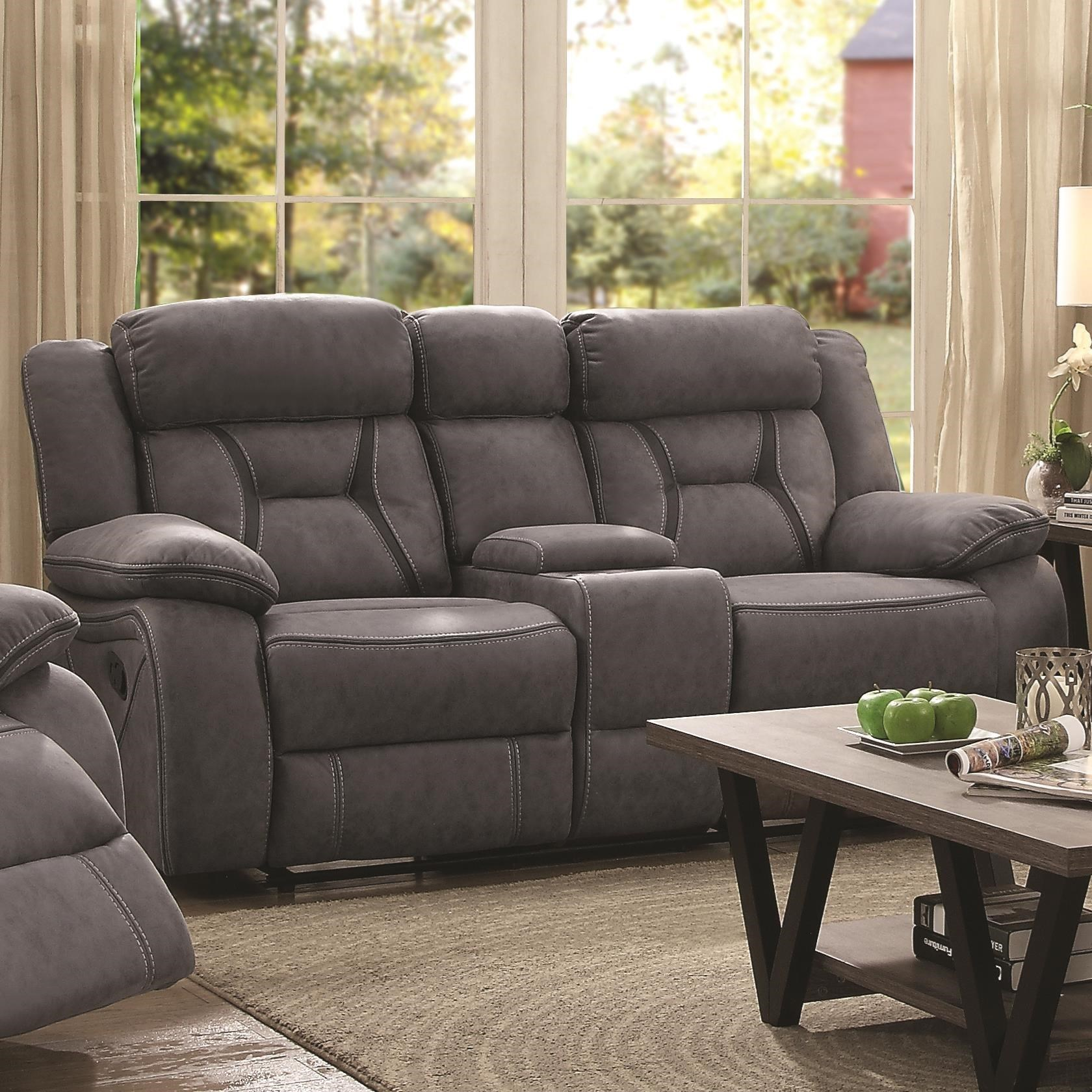 Houston Motion Loveseat With Console by Coaster at Standard Furniture