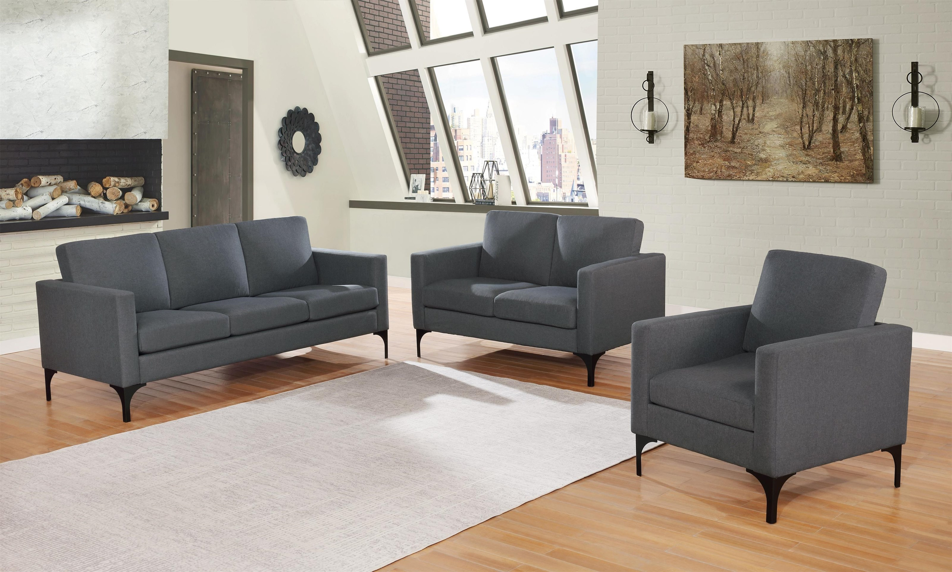 Howser 3 Piece Sofa/Loveseat/Chair by Coaster at HomeWorld Furniture