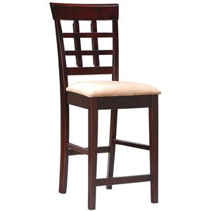 "24"" Wheat Back Bar Stool with Fabric Seat"
