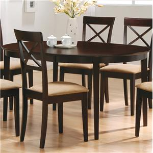 Oval Dining Leg Table