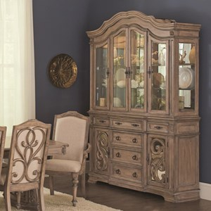Traditional China Cabinet with Glass Doors