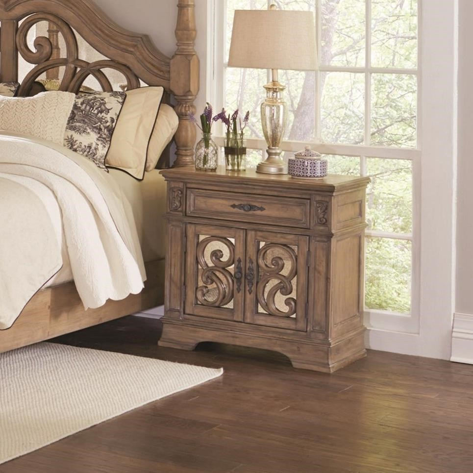 Ilana One Drawer Nightstand by Coaster at Lapeer Furniture & Mattress Center