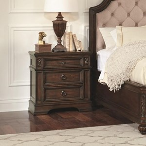 3 Drawer Nightstand with Top Felt-Lined Drawer