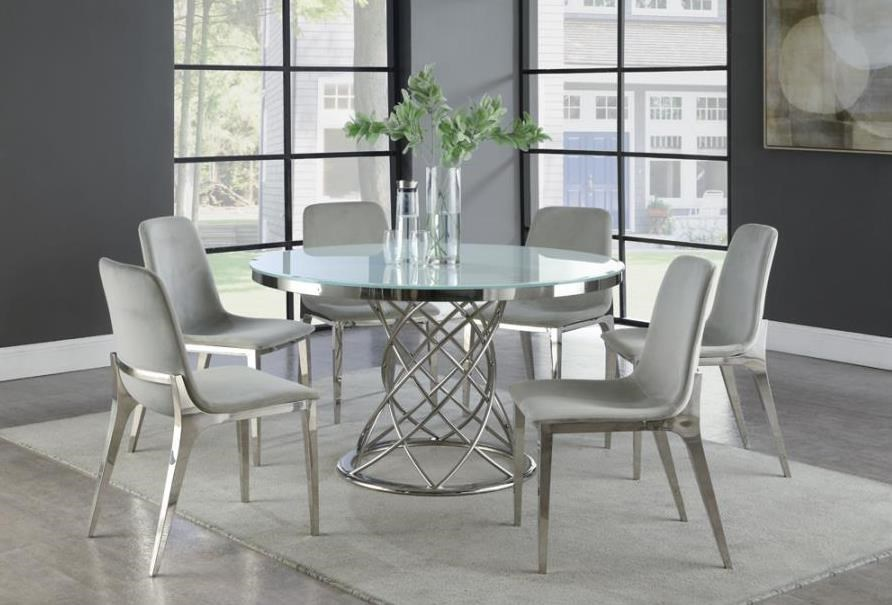 Irene 5-Piece Round Dining Set by Coaster at Beck's Furniture