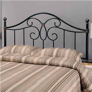 Full/Queen Black Metal Headboard
