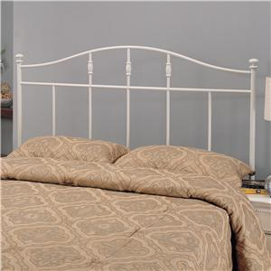 Full/Queen Cottage White Metal Headboard