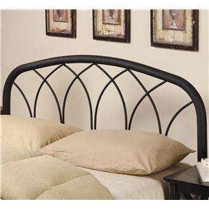 Full/Queen Modern Black Metal Headboard