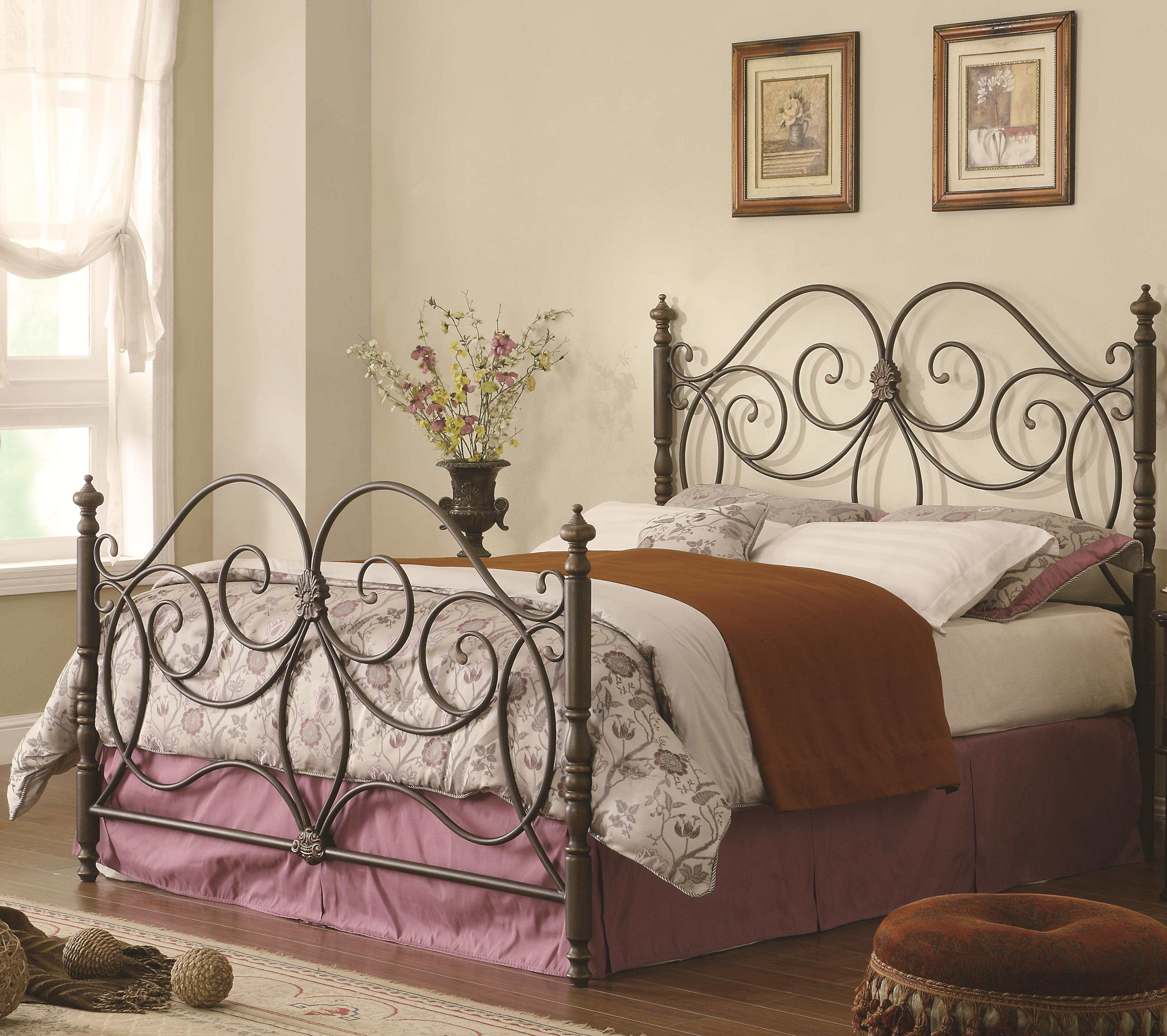 Iron Beds and Headboards Queen Iron Bed by Coaster at Nassau Furniture and Mattress