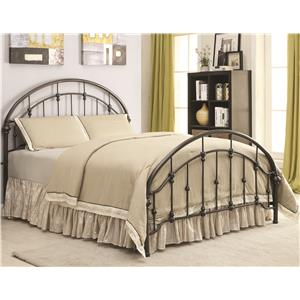 Metal Curved Queen Bed
