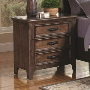 3 Drawer Nightstand with Power Outlet