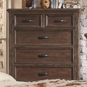 6 Drawer Chest with Felt-Lined Top Drawers