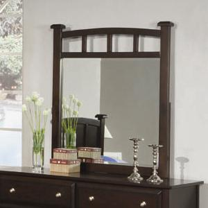 Dresser Mirror with Curved Frame