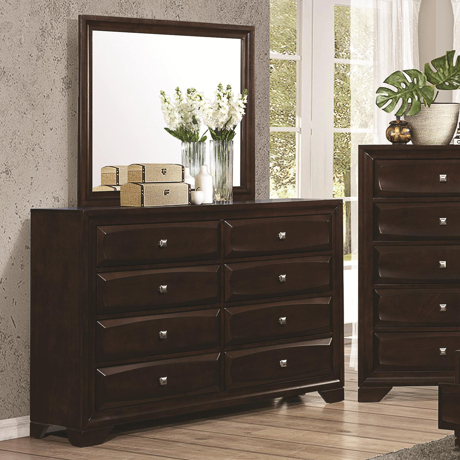 Jaxson Dresser and Mirror Combo by Coaster at Lapeer Furniture & Mattress Center