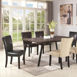 Contemporary Dining Table with Metal Legs