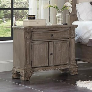 Traditional Nightstand with USB Port