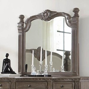 Traditional Mirror with Carved Motif