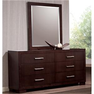 6 Drawer Dresser and Wall Mirror