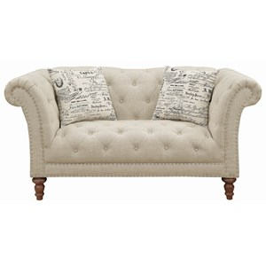 Traditional Chesterfield Loveseat