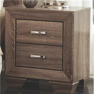 Nightstand with 2 Drawers and Tapered Feet