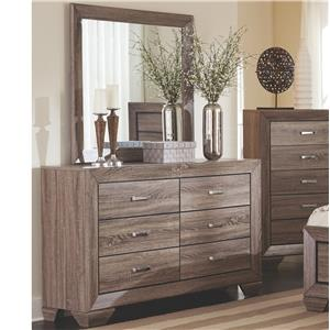 Dresser with 6 Drawers and Mirror Set