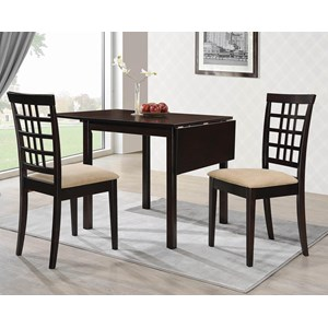 Transitional 3-Piece Dining Set