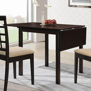 Transitional Dining Table with Drop Leaf
