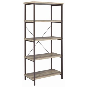 Industrial Bookcase with Metal Frame
