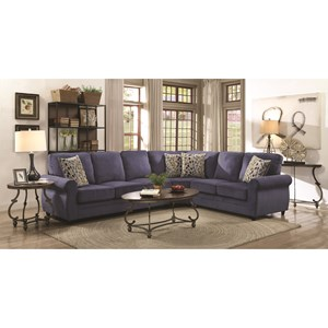 Sectional with Memory Foam Sleeper