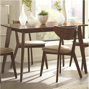 Dining Table with Angled Legs