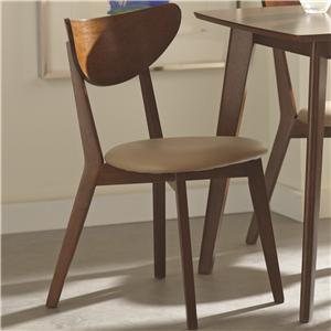 Dining Side Chairs with Curved Backs