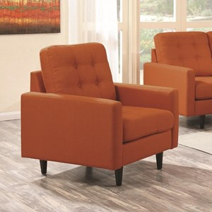 Upholstered Chair with Mid-Century Modern Design