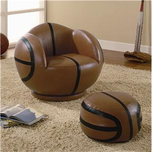 Coaster Kids Sports Chairs Youth Chair and Ottoman