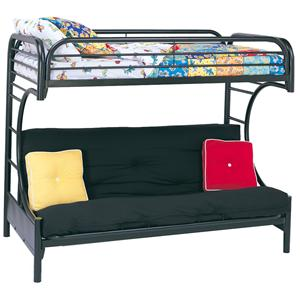 Coaster Metal Beds Twin Over Futon Bunk Bed