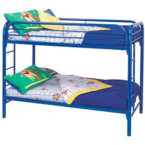 Twin Over Twin Bunk Bed with Built-In Ladders