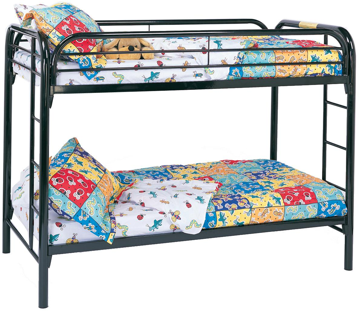 Metal Beds Twin Bunk Bed by Coaster at Northeast Factory Direct