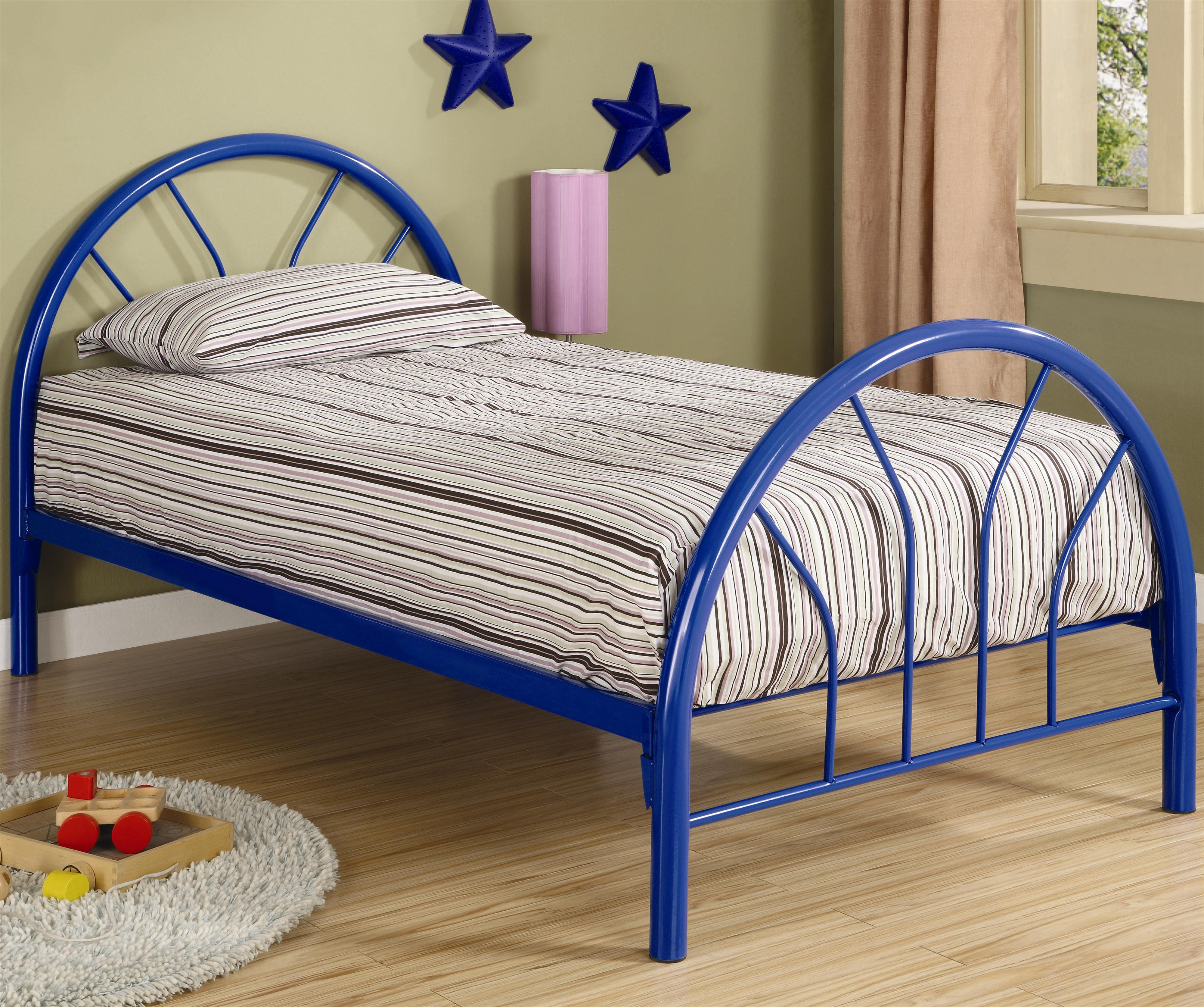 Metal Beds Twin Metal Bed by Coaster at Northeast Factory Direct