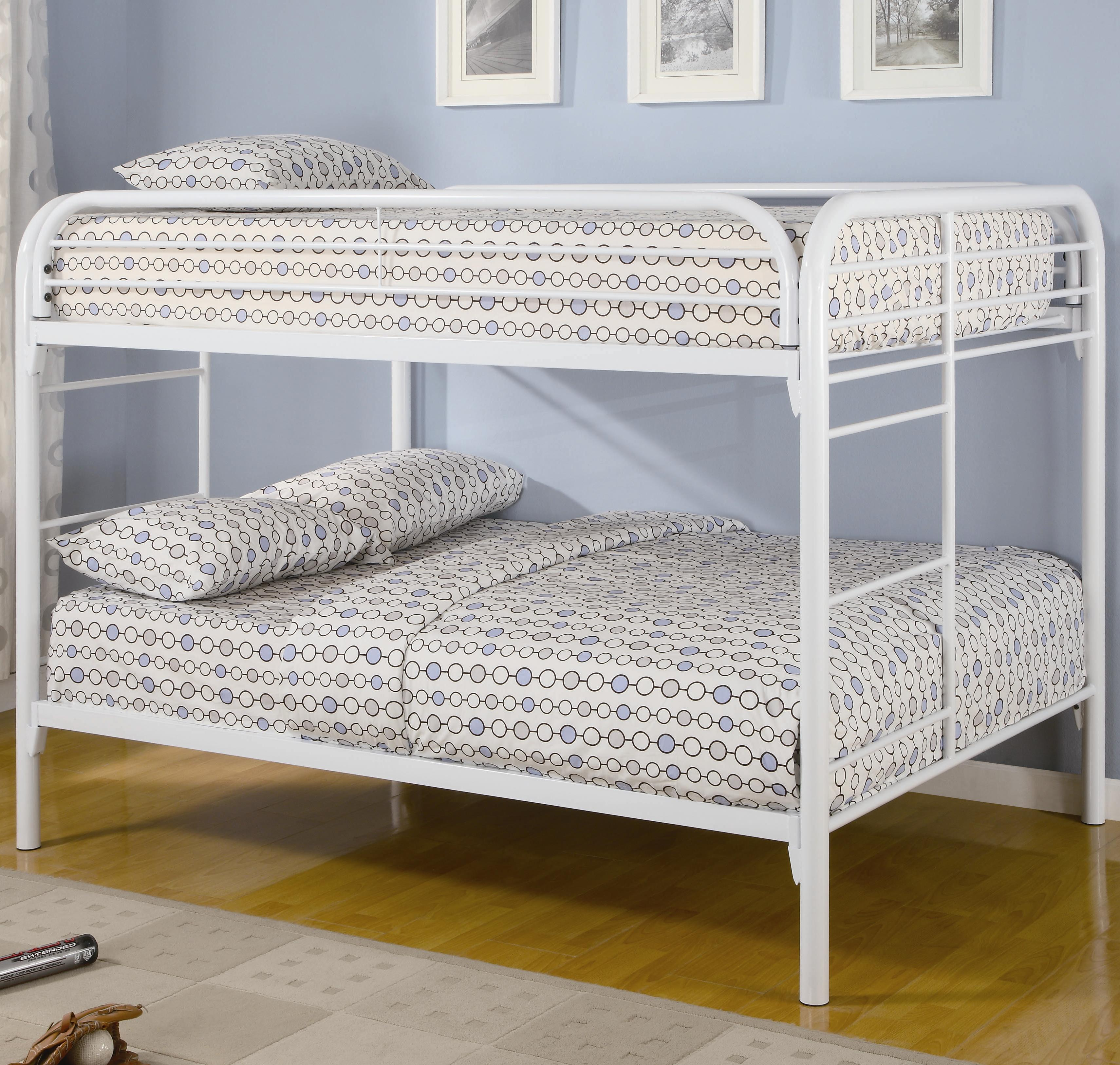 Metal Beds Full Bunk Bed by Coaster at Beds N Stuff