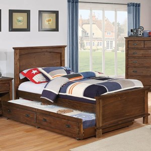 Transitional Youth Bedroom Twin Bed with Trundle