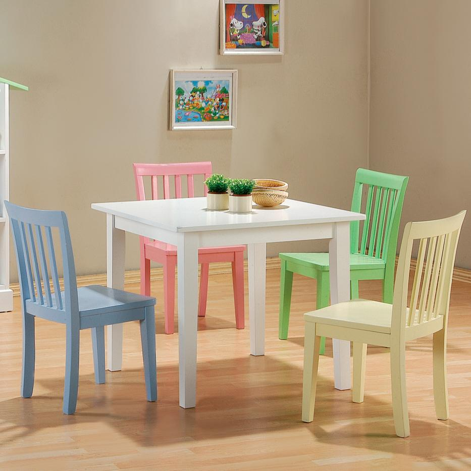 Kinzie 5 Piece Youth Table and Chair Set by Coaster at Value City Furniture