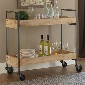 Industrial Serving Cart with Casters