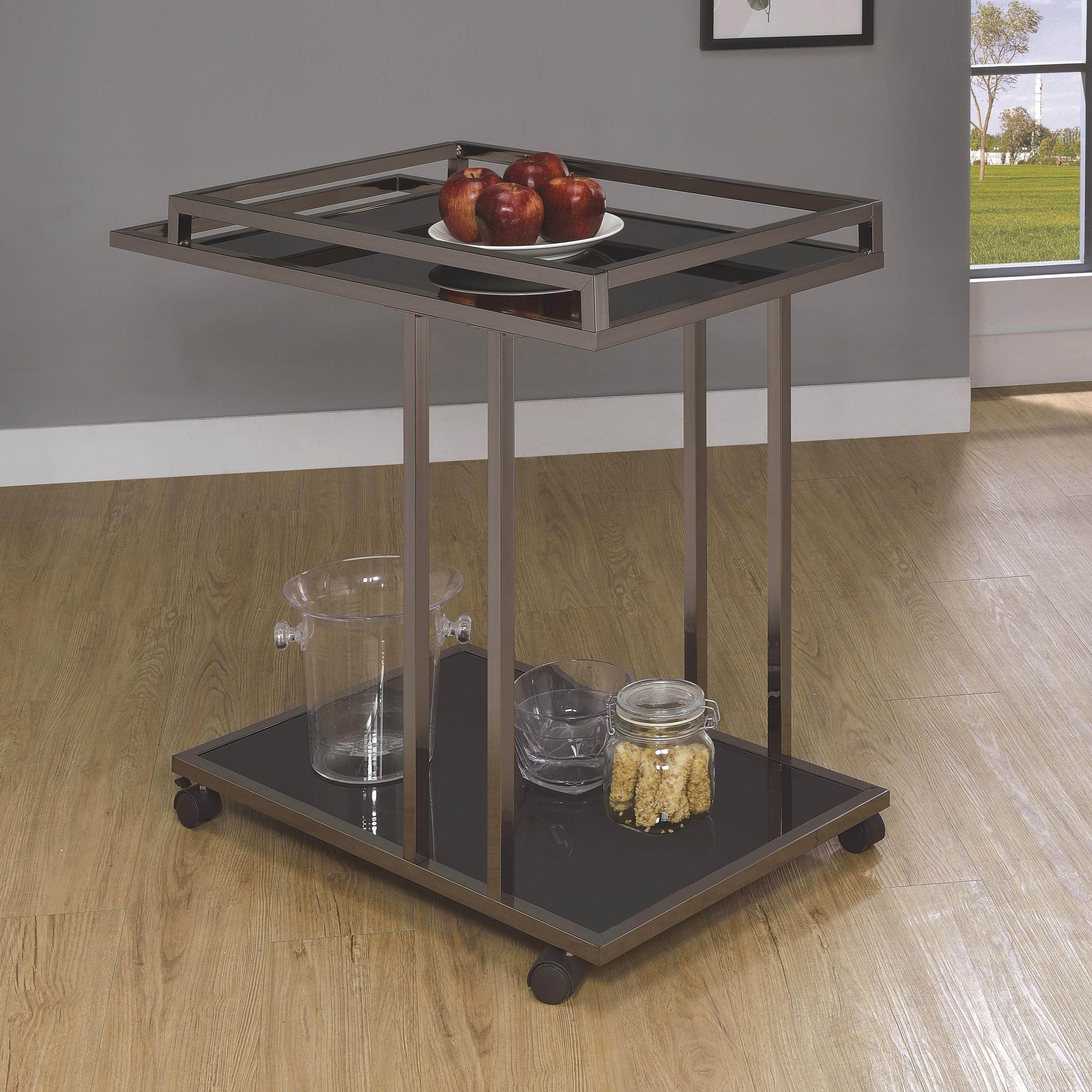 Kitchen Carts Serving Cart by Coaster at Lapeer Furniture & Mattress Center