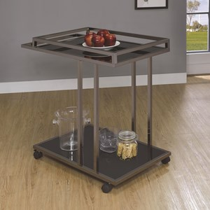 Modern Two Tier Serving Cart