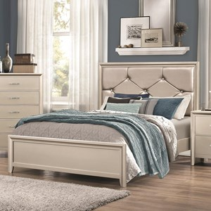 Full Bed with Upholstered Headboard
